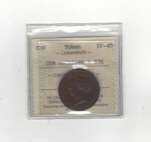 Canada-Token-NS5A1-Breton-876-ICCS-Graded-EF-45-Half-Penny-Token