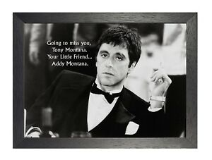 Scarface For John Tony Addy Montana Quote Poster Film Tv Al Pacino