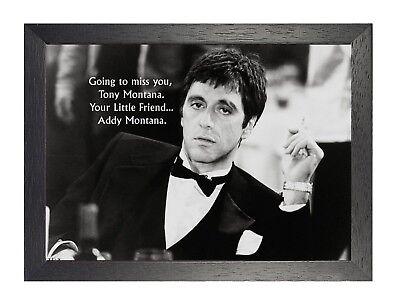 Scarface per John Tony Addy Montana Citazione Poster Film Tv Al Pacino