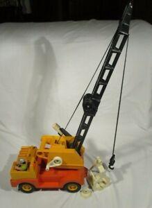 Vintage-Fisher-Price-Boom-Crane-Husky-Helper-With-Grab-amp-Magnet-314-70-s-Retro