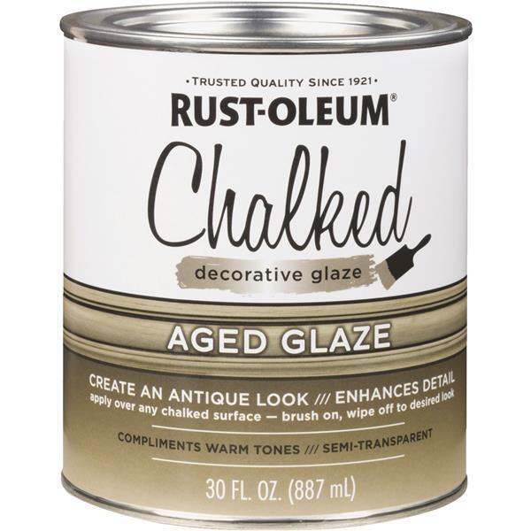 2 Pk Rust-Oleum Chalked 30 Oz. Semi-Transparent Aged Decorative Glaze 315881