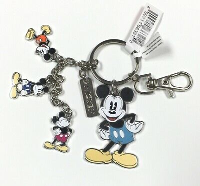 "Disney Parks Mickey Mouse PVC 3/"" Keychain NEW"