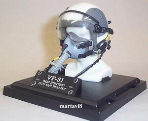 Details about Mini US Navy VF-31 HGU 55/P Flight / Flying Helmet & MBU 12/P  Oxygen Mask (807)