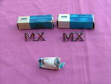 """1968-69 Mercury Montego """"MX"""" quarter panel emblems, pair, NOS!"""