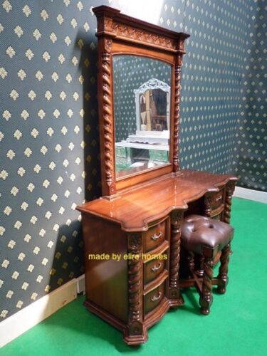 Large Jacobean TUDOR Armoire wardrobe Mansion Twist solid 100/% Mahogany wood