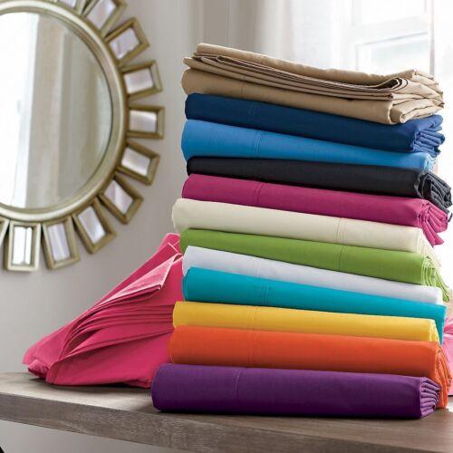 "1000TC Egyptian Cotton Upto30/"" Deep Pocket  4 PC Sheet Set US Size Solid Colors"