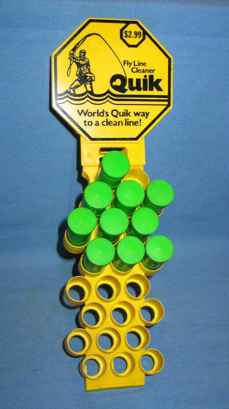 Vintage QUIK Fly Line Cleaner 10 Tubes in Store Display - FREE SHIPPING