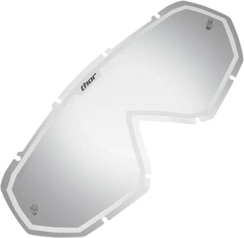 THOR HERO VETRO LENS a specchio bianco vetro di ricambio occhiali MX Motocross di ricambio