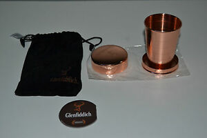Genuine-Glenfiddich-Whisky-Dram-Cup-Copper-Gift-Hiker-Collapsible-Shot-Pop-Up