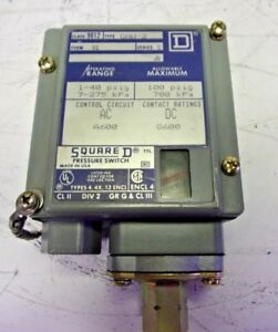Details About Square D GAW 2 Class 9012 Pressure Switch Series C 20 PSIG