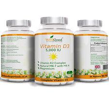 Vitamin K2 200mg with Vitamin D3 Lanolin 5000IU + Magnesium Bis-Glycinate 60 cap