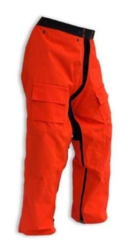 """Orange Fit... Regular Full Wrap Zipper Forester Chainsaw Safety Chaps 37/"""""""
