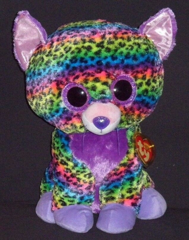 TY BEANIE BOOS - TRIXIE the 17  LEOPARD - MINT with TAG - JUSTICE EXCLUSIVE -