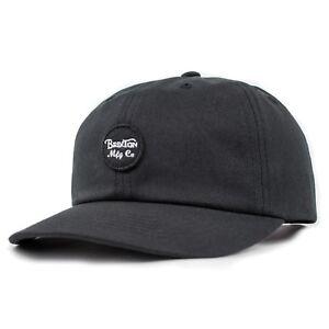 2095cb15a14 Brixton Black Wheeler Adjustable Cap