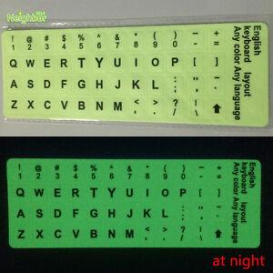 english us keyboard fluorescent sticker large black