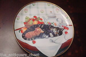 Turi MacCombie CAT NAP Franklin Mint Collectors Plate Limited Edition w/COA[2r]