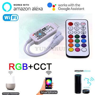 Magic Home Wifi Controller 5050 Rgb Cct Led Strip Rf Remote For Alexa Google Ebay