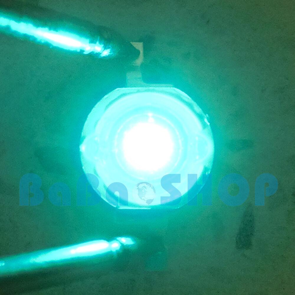 10pcs200pcs 3W 45mil Cyan Rebel 495nm500nm LED Lamp Beads Light Aquarium Plant