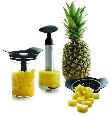 3 In 1 Set Taglia E Pela Ananas Con Contenitore, Lacor 60393 Luminoso A Colori