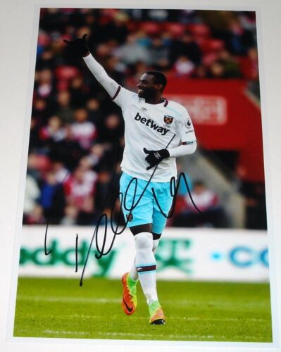 PEDRO OBIANG WEST HAM PERSONALLY SIGNED 12X8 AUTOGRAPH PHOTO SOCCER