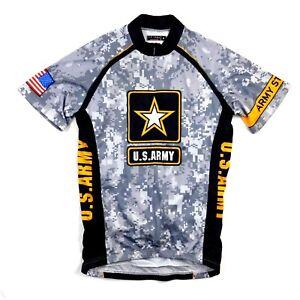 575e20329 Primal Wear Men s US Army Digital Camo Print 3 4 Zip Cycling Jersey ...