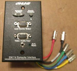 Inline CIA114 Installation High Performance Video AudioComputer Interface Black