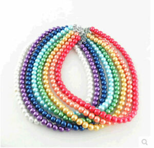 New-Fashion-women-many-color-pearl-necklace-temperament-clavicle-chain-hot-sell