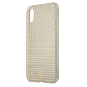 Oh-Joy-Snap-On-Slim-Case-for-Apple-iPhone-Xs-X-Clear-White-Dots-amp-Stripes