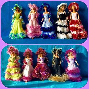 10 Robes De Barbie Mode Nuances Princesses Neige Création Noel Made In France