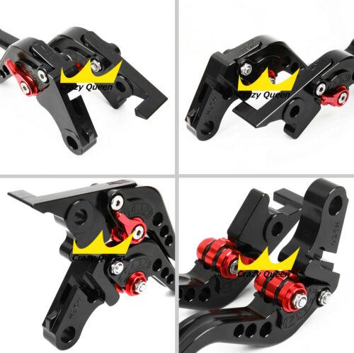 Black For HondaCBR500R//CB500F//X 2018 Short Brake Clutch Levers Adjustable US Set