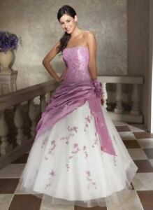 Brautkleid-Hochzeitskleid-Kleid-Abendkleid-Ballkleid-Brautjungfern-NEU-34-46-M38