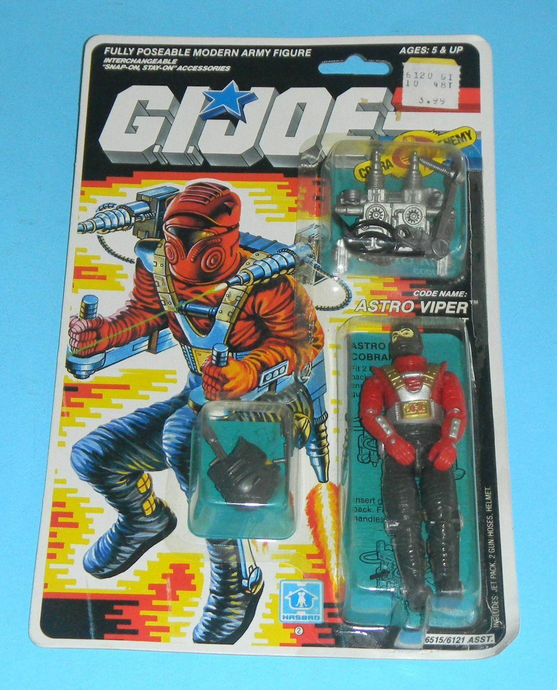 1988 GI Joe  Cobra Astro Viper Cobranaut v1 completare cifra MOC Sealed Unopen  consegna gratuita