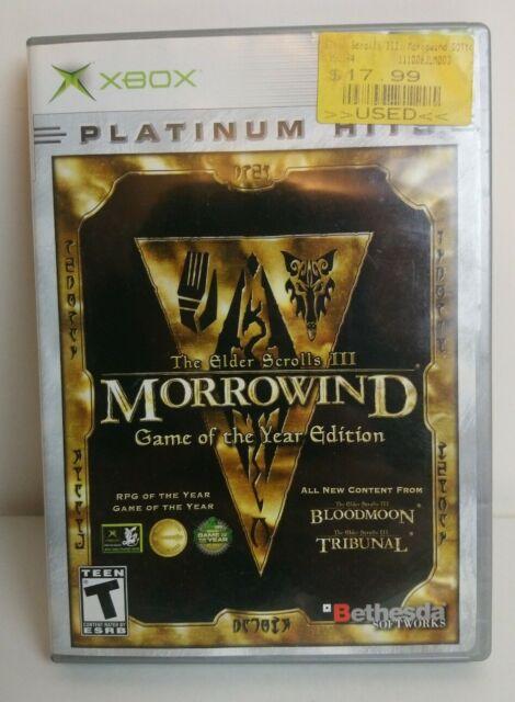 Elder Scrolls III Morrowind Game of the Year Edition (Microsoft Xbox 2003) Game