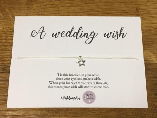 Personalised Wish Bracelet Inspirational Quote Wedding Favour Wedding gift Bride