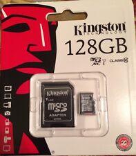 Kingston 128GB 128G microSDXC UHS-I Class 10 microSD micro SD SDXC Flash Card