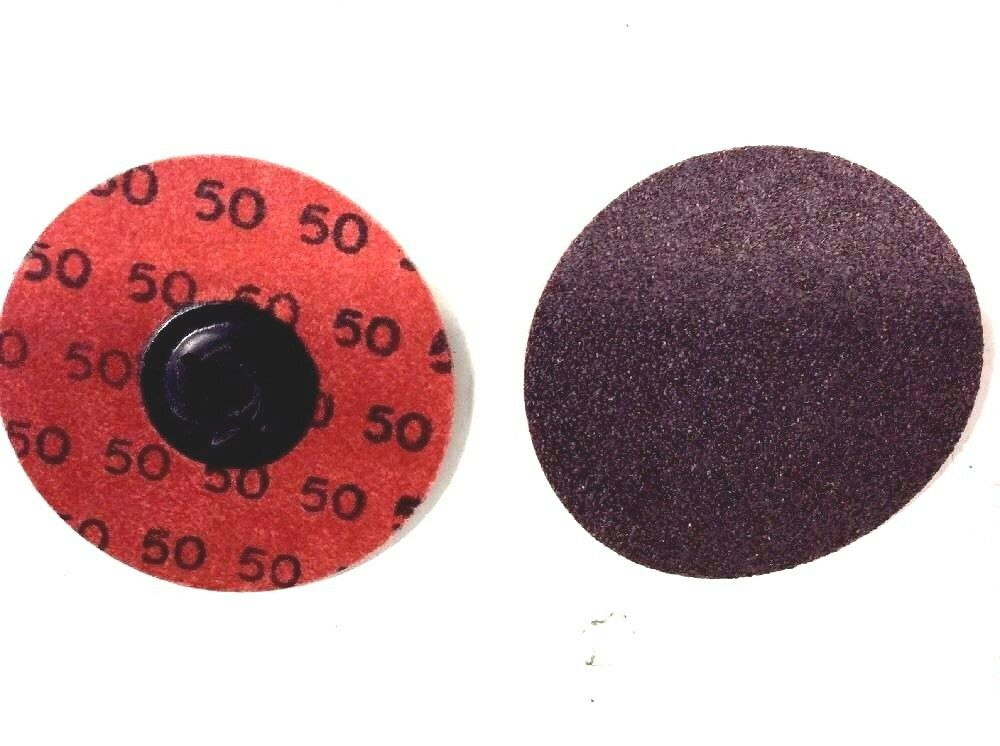 3 Diameter Box of 10 Merit ALO PowerLock Abrasive Disc Type II Cloth Backing Aluminum Oxide Grit 80