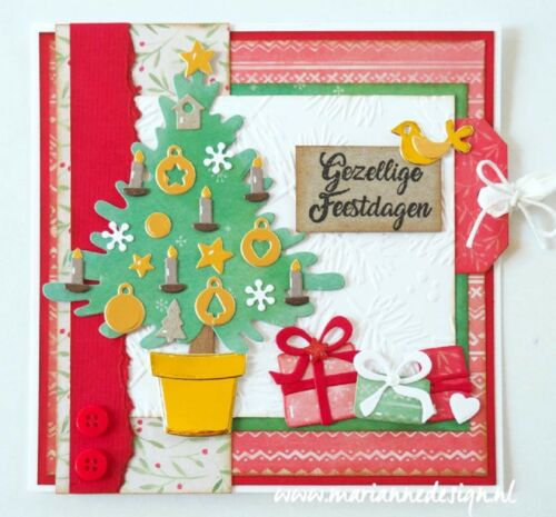Marianne Design Collectables Cut /& Embossing Dies Eline/'s Christmas Tree COL1459