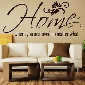 Wall-Quote-Sticker-Home-where-you-are-loved-no-matter-what-Wall-Art-Decor-Decal