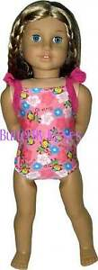 Hula-Monkey-Swimsuit-Bathing-18-in-Doll-Clothes-Fits-American-Girl