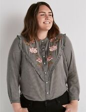 26fed2b54fdcd item 2 Lucky Brand Women s Plus Size Embroidered Western Button Shirt Save  40%! 3X 3XL -Lucky Brand Women s Plus Size Embroidered Western Button Shirt  Save ...