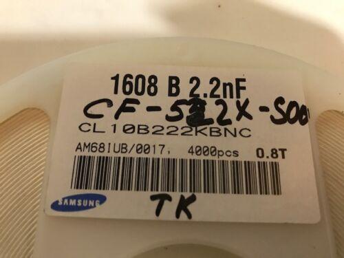 Cap Ceramic 50V 2.2NF 4000 PCS x SAMSUNG CL10B222KBNC SMD-0603 FULL REEL