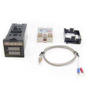 AC 110-240V Digital PID Temperature controller + 40A SSR + K thermocouple Sensor