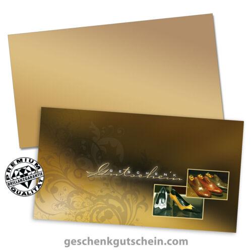 """Gutscheinkarten /""""Standard/"""" mit Kuvert für Schuhe Schuhfachhandel SH1213"""