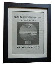 TANGERINE DREAM+Hyperborea+POSTER+AD+RARE ORIGINAL 1983+FRAMED+FAST GLOBAL SHIP