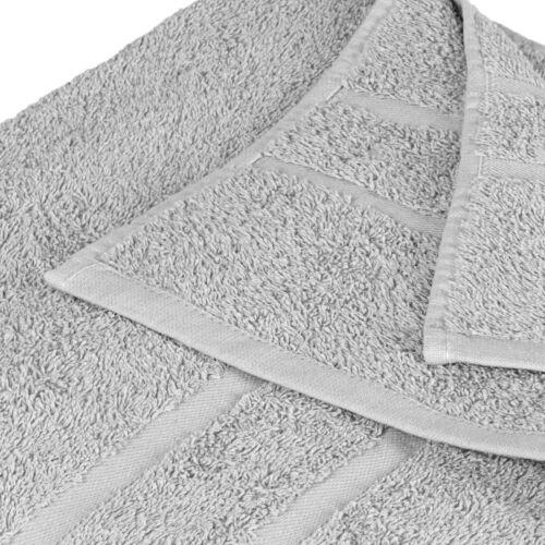 1x Gris clair éponge serviette 100 x 150 cm parfum 100/% Coton 500g//m² Set