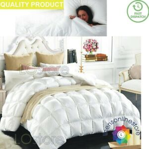 NEW-LUXURY-GOOSE-FEATHER-amp-DOWN-DUVET-13-5-TOG-QUILT-SOFT-COMFORTABLE-QUILTS