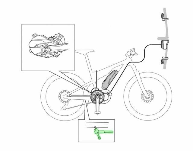 Shimano Steps SM Due10 E-bike Speed Sensor Cable Unit 1400mm for sale online