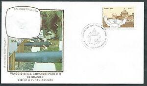 1980 Vaticano Viaggi Del Papa Brasile Porto Alegre - Rm1
