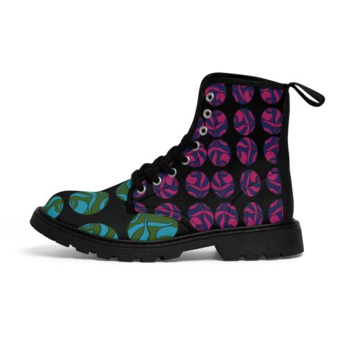 Details about  /Multicolored Marble Women/'s Canvas Boots