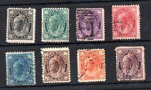 Canada-QV-1897-Maple-fine-used-set-SG142-149-WS19230